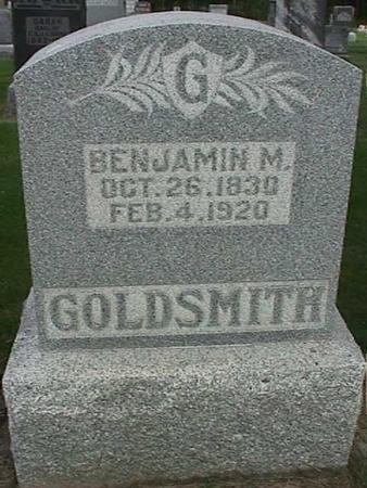 GOLDSMITH, BENJAMIN M - Henry County, Iowa | BENJAMIN M GOLDSMITH