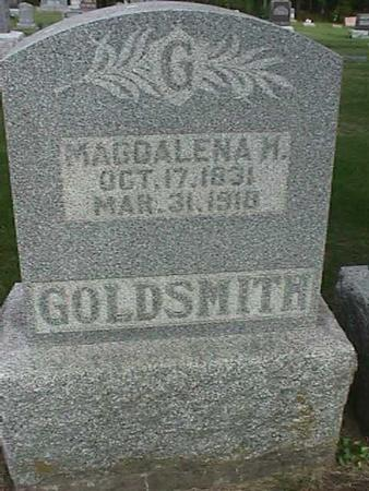 GOLDSMITH, MAGDALENA H - Henry County, Iowa | MAGDALENA H GOLDSMITH
