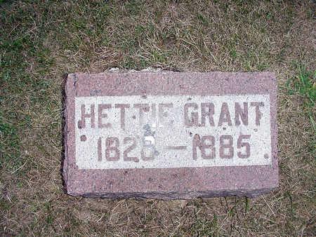 GRANT, HETTIE - Henry County, Iowa | HETTIE GRANT