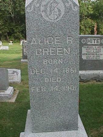 GREEN, ALICE R. - Henry County, Iowa | ALICE R. GREEN