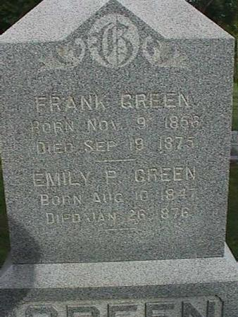 GREEN, EMILY P - Henry County, Iowa | EMILY P GREEN