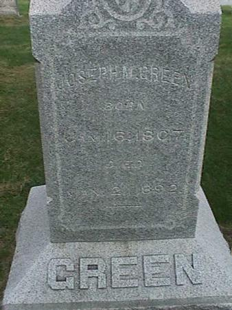 GREEN, JOSEPH M. - Henry County, Iowa | JOSEPH M. GREEN