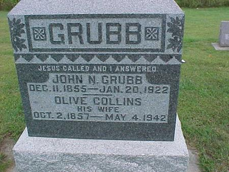 COLLINS GRUBB, OLIVE - Henry County, Iowa | OLIVE COLLINS GRUBB