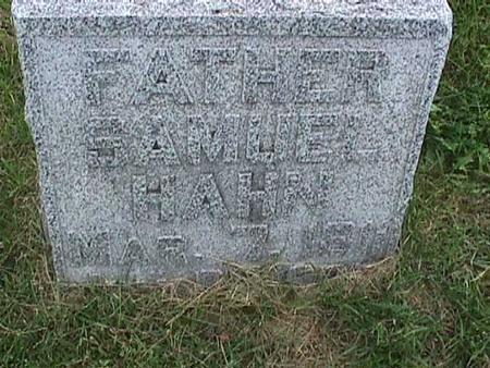 HAHN, SAMUEL - Henry County, Iowa | SAMUEL HAHN