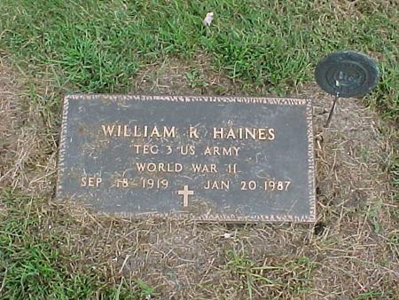 HAINES, WILLIAM R. - Henry County, Iowa | WILLIAM R. HAINES