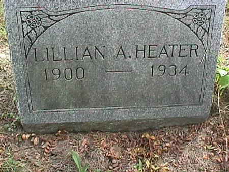HEATER, LILLIAN A - Henry County, Iowa | LILLIAN A HEATER