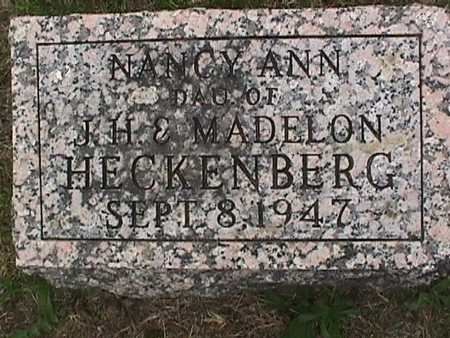HECKENBERG, NANCY ANN - Henry County, Iowa | NANCY ANN HECKENBERG
