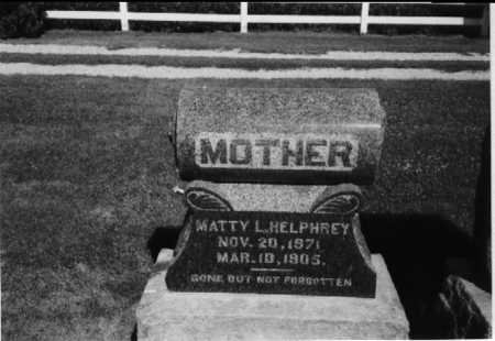 HELPHREY, MATTIE L. - Henry County, Iowa | MATTIE L. HELPHREY