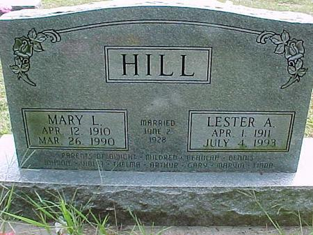 HILL, LESTER A - Henry County, Iowa | LESTER A HILL