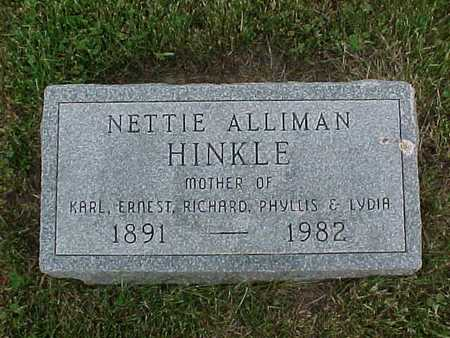 ALLIMAN HINKLE, NETTIE - Henry County, Iowa | NETTIE ALLIMAN HINKLE