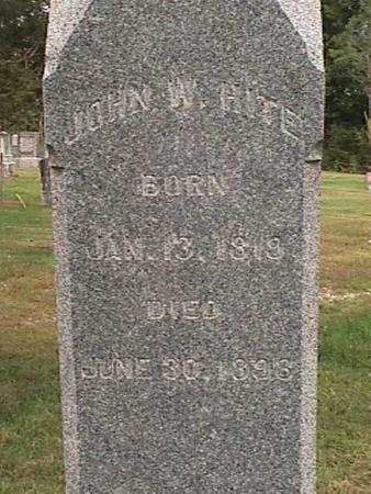 HITE, JOHN W - Henry County, Iowa | JOHN W HITE