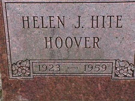 HITE HOOVER, HELEN J. - Henry County, Iowa | HELEN J. HITE HOOVER