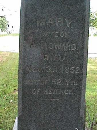 HOWARD, MARY - Henry County, Iowa | MARY HOWARD