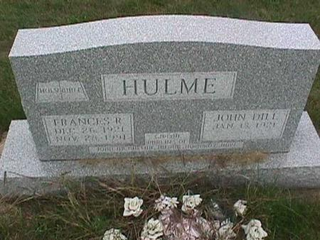 HULME, FRANCES R. - Henry County, Iowa | FRANCES R. HULME
