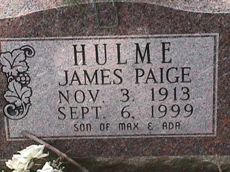 HULME, JAMES PAIGE - Henry County, Iowa | JAMES PAIGE HULME