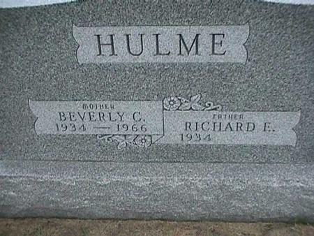 HULME, RICHARD - Henry County, Iowa | RICHARD HULME
