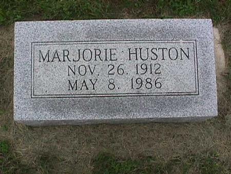 HUSTON, MARJORIE - Henry County, Iowa   MARJORIE HUSTON