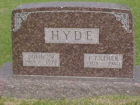 HYDE, F. ESTHER - Henry County, Iowa | F. ESTHER HYDE