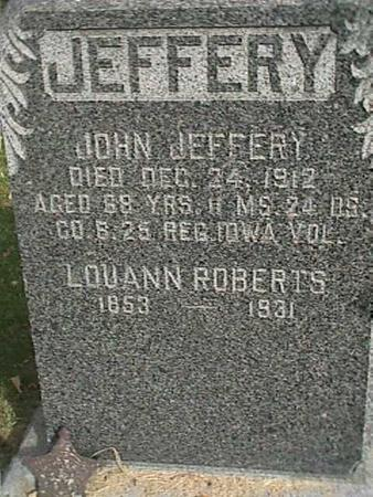 JEFFERY, JOHN - Henry County, Iowa | JOHN JEFFERY