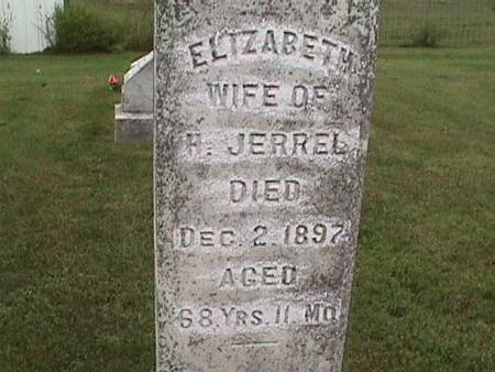 JERREL, ELIZABETH - Henry County, Iowa | ELIZABETH JERREL