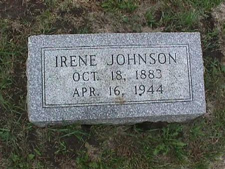 JOHNSON, IRENE - Henry County, Iowa | IRENE JOHNSON