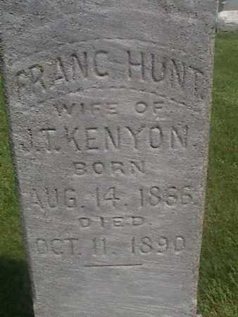 HUNT KENYON, FRANC - Henry County, Iowa | FRANC HUNT KENYON