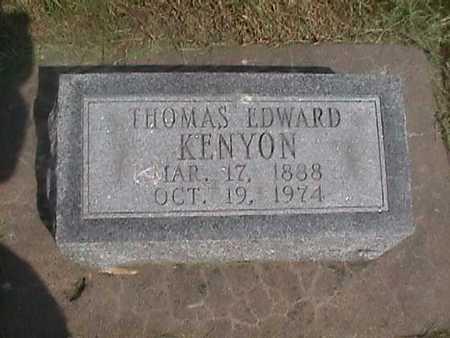 KENYON, THOMAS EDWARD - Henry County, Iowa   THOMAS EDWARD KENYON