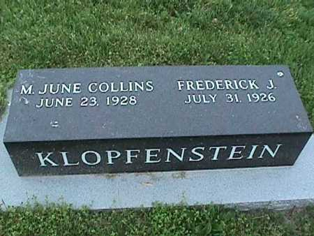 COLLINS KLOPFENSTEIN, M. JUNE - Henry County, Iowa | M. JUNE COLLINS KLOPFENSTEIN