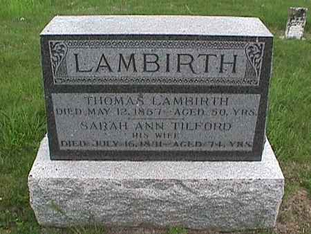 LAMBIRTH, THOMAS - Henry County, Iowa | THOMAS LAMBIRTH