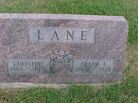 LANE, FRANK - Henry County, Iowa | FRANK LANE