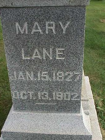 LANE, MARY - Henry County, Iowa | MARY LANE