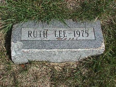 LEE, RUTH - Henry County, Iowa | RUTH LEE