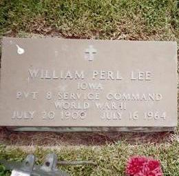 LEE, WILLLIAM PERL - Henry County, Iowa | WILLLIAM PERL LEE