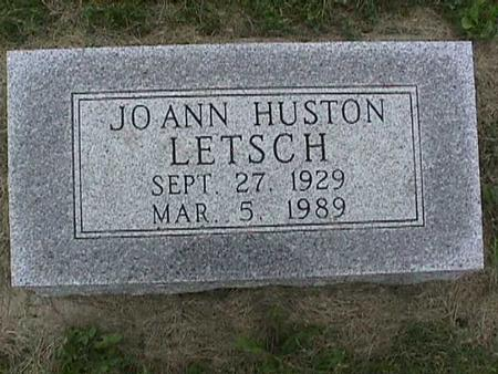 HUSTON LETSCH, JO ANN - Henry County, Iowa | JO ANN HUSTON LETSCH