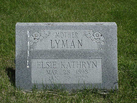 SMITH LYMAN, ELSIE KATHRYN - Henry County, Iowa | ELSIE KATHRYN SMITH LYMAN