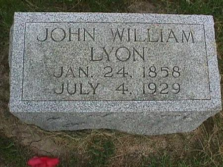 LYON, JOHN WILLIAM - Henry County, Iowa | JOHN WILLIAM LYON