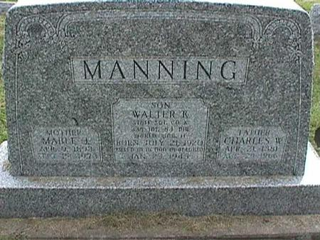 MANNING, CHARLES W - Henry County, Iowa | CHARLES W MANNING