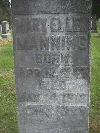 MANNING, MARY ELLEN - Henry County, Iowa | MARY ELLEN MANNING