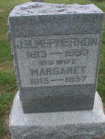 MCPHERRON, MARGARET - Henry County, Iowa | MARGARET MCPHERRON