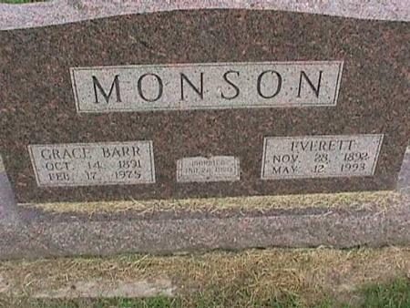 MONSON, GRACE - Henry County, Iowa | GRACE MONSON