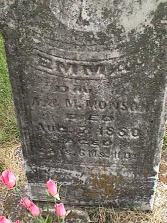 MONSON, EMMA - Henry County, Iowa | EMMA MONSON