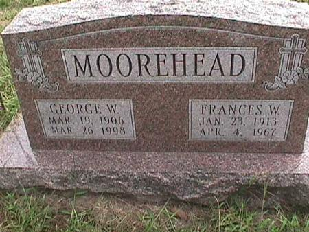 MOOREHEAD, FRANCES W - Henry County, Iowa | FRANCES W MOOREHEAD