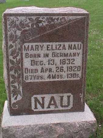 NAU, MARY - Henry County, Iowa | MARY NAU