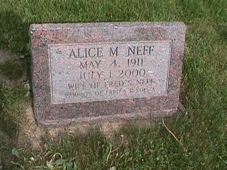 NEFF, ALICE M. - Henry County, Iowa | ALICE M. NEFF