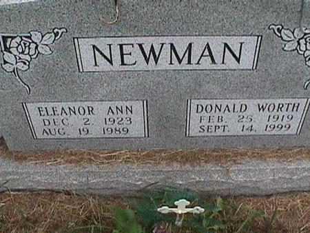NEWMAN, DONALD WORTH - Henry County, Iowa | DONALD WORTH NEWMAN