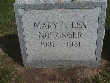 NOFZINGER, MARY ELLEN - Henry County, Iowa | MARY ELLEN NOFZINGER