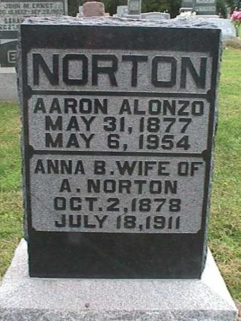 NORTON, ANNA B - Henry County, Iowa | ANNA B NORTON