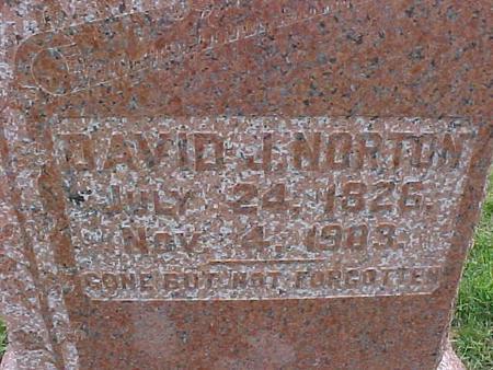 NORTON, DAVID J. - Henry County, Iowa   DAVID J. NORTON