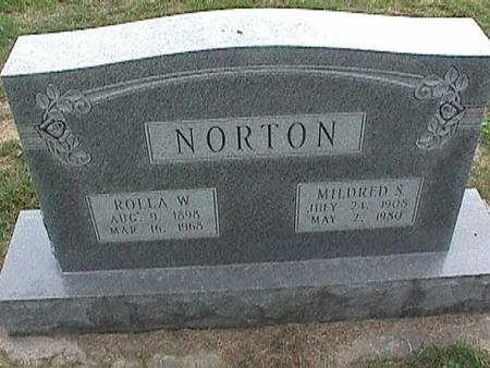NORTON, MILDRED S - Henry County, Iowa | MILDRED S NORTON