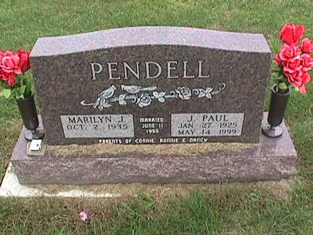 PENDELL, J. PAUL - Henry County, Iowa | J. PAUL PENDELL